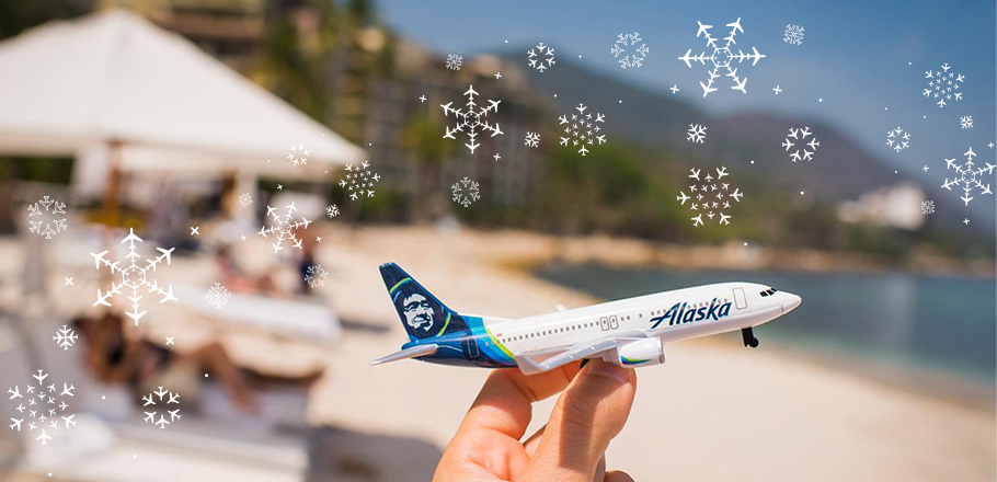 A toy Alaska Airlines plane.