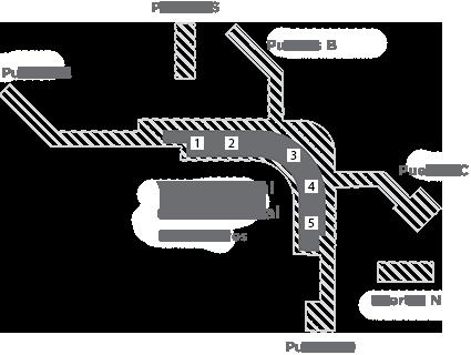 Mapa de TSA en Sea-Tac